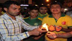 Urfaspor taraftarları Passolig'leri yaktı