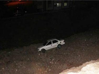 Otomobil Uçuruma Yuvarlandı, Burunları Bile Kanamadı