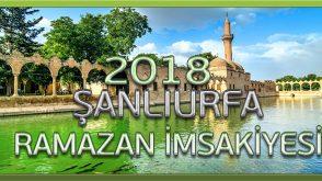 Urfa iftar saati 2018