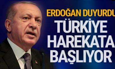 Erdoğan son dakikayı duyurdu! Türkiye Fırat'ın Doğusuna operasyona başlıyor