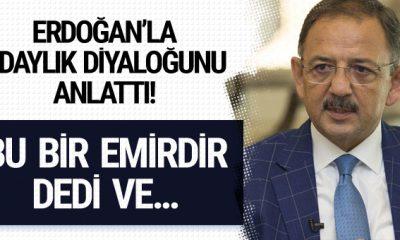 Mehmet Özhaseki Erdoğan'la aralarında geçen diyaloğu anlattı!