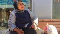 Milaslı kadın bir yıldır sokakta yaşıyor