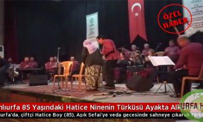 Şanlıurfa 85 Yaşındaki Hatice Ninenin Türküsü Ayakta Alkışlandı