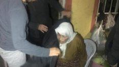 Yaşlı kadın son anda kurtarıldı
