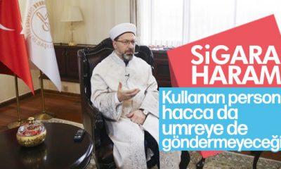 Diyanet İşleri Başkanı Ali Erbaş: Sigara haram