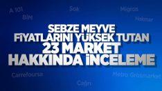 23 zincir markete soruşturma