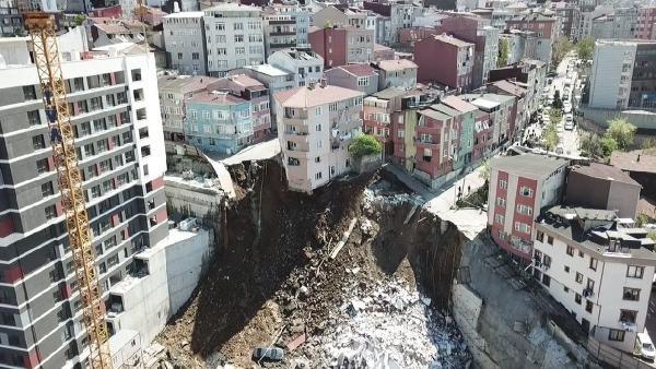 Kağıthane'de 4 katlı bina yıkıldı