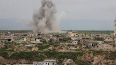 Suriye ve Rus savaş uçakları bomba yağdırdı