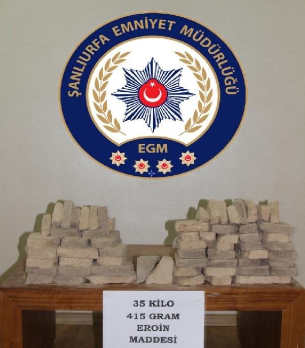Şanlıurfa'da 35 kilo 415 gram eroin ele geçirildi