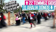 Suriyelilerin bayram için ülkelerine dönüşü başlıyor