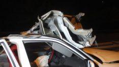 Şanlıurfa'dan düğünden dönen araç kaza yaptı