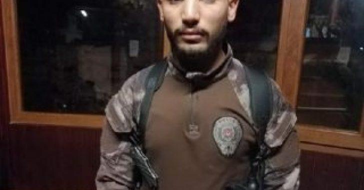 Suriyeli genç, özel harekat polisi üniformasıyla yakalandı